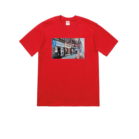 "SUPREME HARDWARE TEE ""RED"" SS18"
