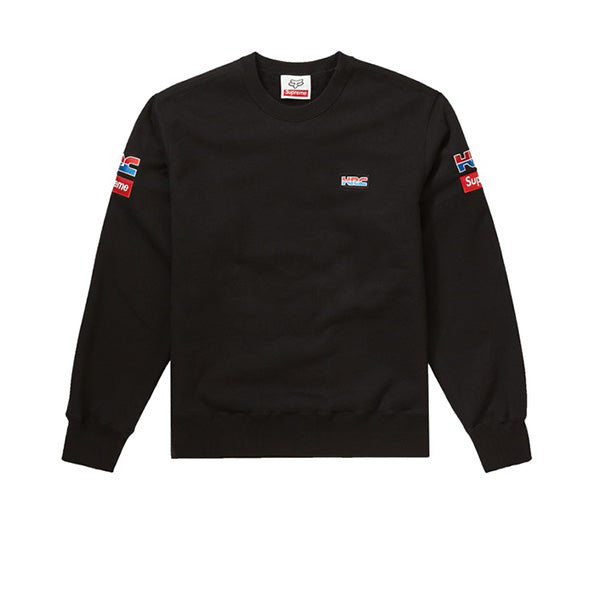 SUPREME HONDA FOX RACING CREWNECK BLACK FW19
