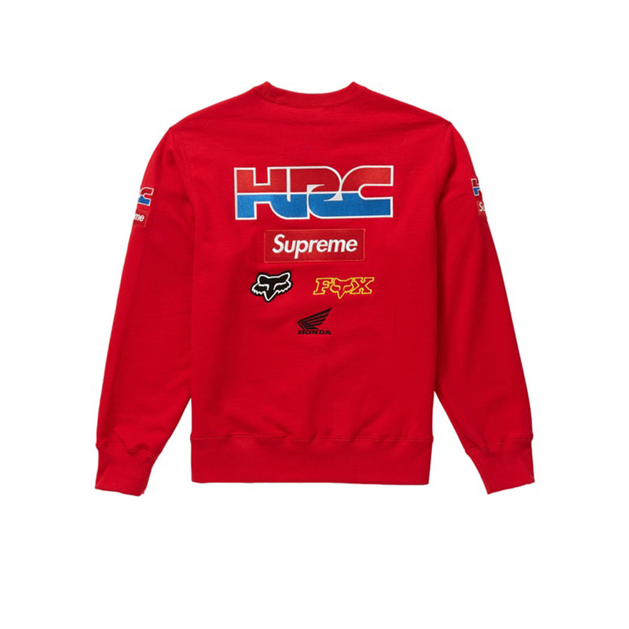 SUPREME HONDA FOX RACING CREWNECK RED FW19