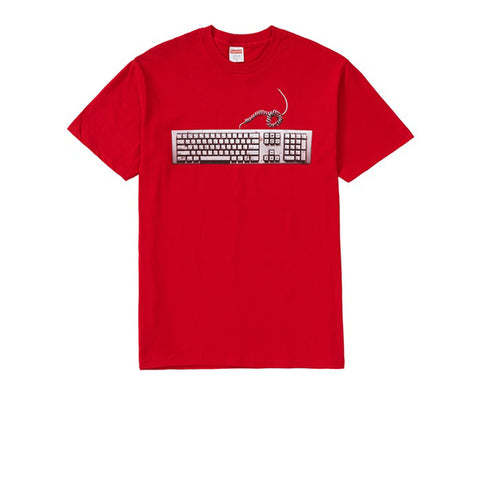 SUPREME KEYBOARD TEE RED SS19