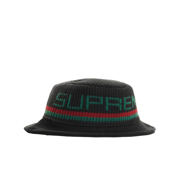 SUPREME KNIT LOGO CRUSHER BLACK FW19