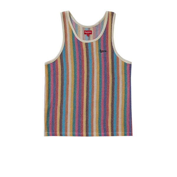 SUPREME KNIT STRIPE TANK TOP MULTICOLOR SS19