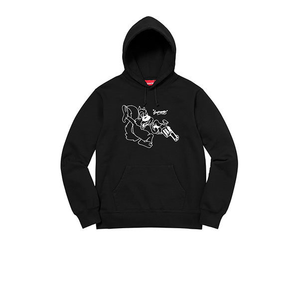 SUPREME LEE HOODED SWEATSHIRT BLACK SS18