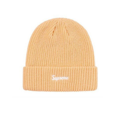 SUPREME LOOSE GAUGE BEANIE CREAM FW19
