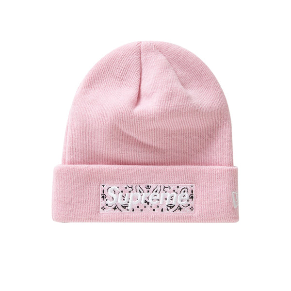 SUPREME NEW ERA BOX LOGO BEANIE PINK FW19