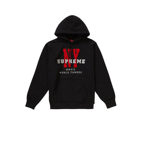 SUPREME NY HOODED SWEATSHIRT BLACK FW19