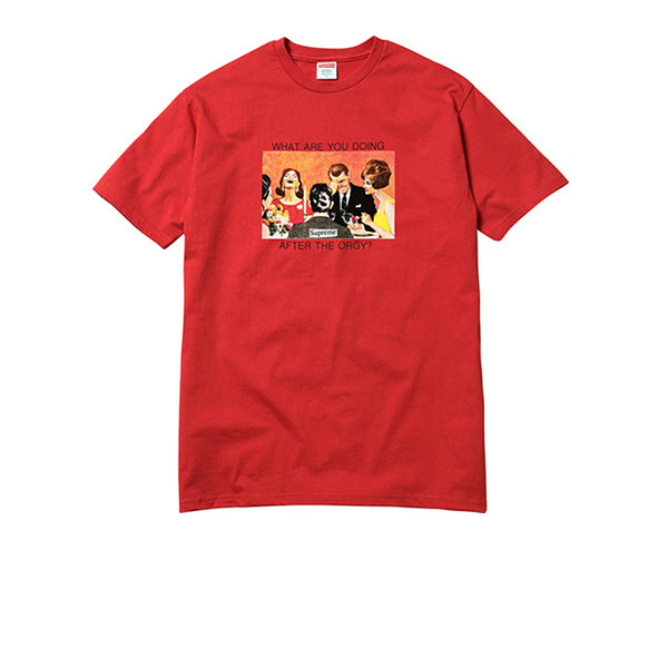 "SUPREME ORGY TEE ""RED"" SS17"