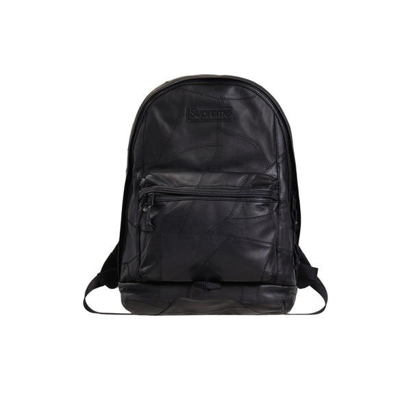 SUPREME PATCHWORK LEATHER BACKPACK BLACK FW19