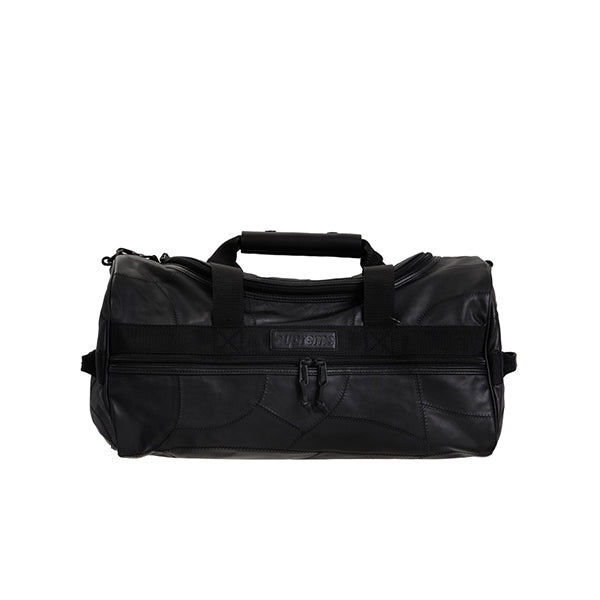 SUPREME PATCHWORK LEATHER DUFFLE BAG BLACK FW19