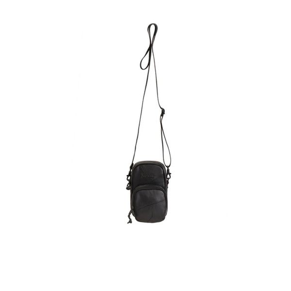 SUPREME PATCHWORK LEATHER SMALL SHOULDER BAG BLACK FW19