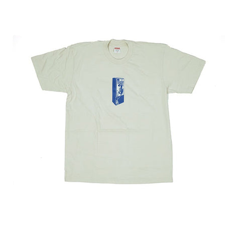 SUPREME PAYPHONE TEE NATURAL FW18