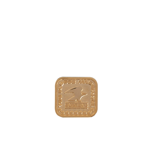 SUPREME PLEDGE ALLEGIANCE PIN GOLD FW19