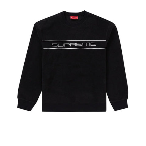 SUPREME POLARTEC CREWNECK BLACK FW19