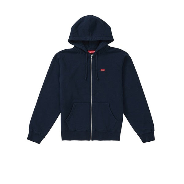SUPREME SMALL BOX ZIP UP SWEATSHIRT NAVY SS19