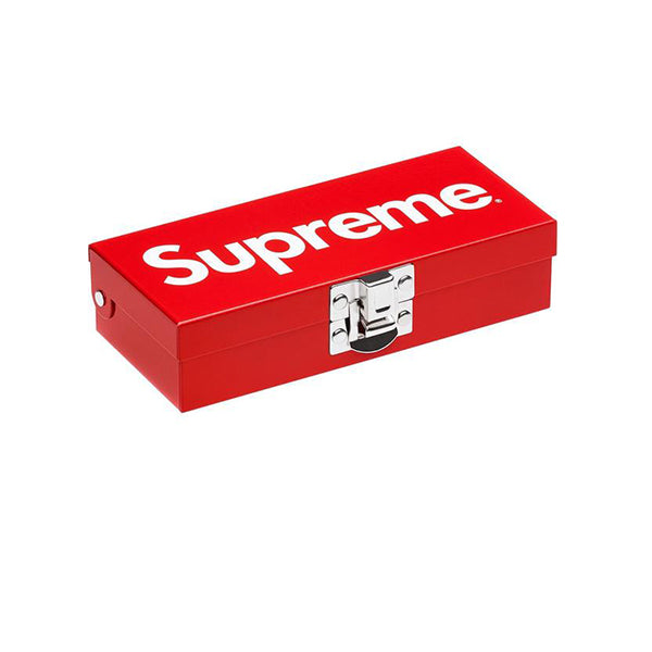 SUPREME SMALL METAL STORAGE BOX RED SS17