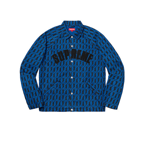 "SUPREME SNAP FRONT TWILL JACKET ""BLUE"" FW18"