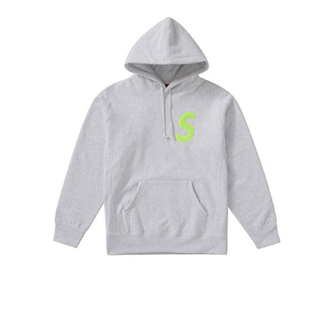 SUPREME S LOGO HOODED SWEATSHIRT ASH GREY FW19
