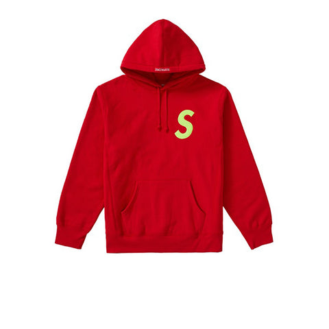 SUPREME S LOGO HOODED SWEATSHIRT RED FW19