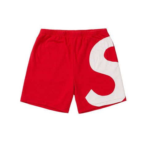 SUPREME S LOGO SHORT RED SS19