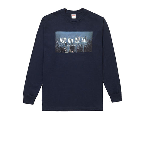 SUPREME THE KILLER L/S TEE NAVY FW18