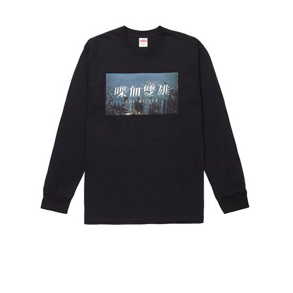 SUPREME THE KILLER LONG SLEEVE TEE BLACK FW18