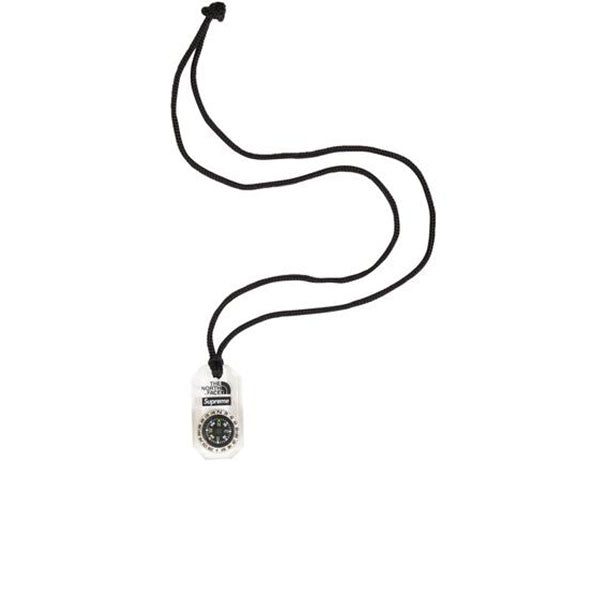SUPREME THE NORTH FACE COMPASS NECKLACE CLEAR FW18