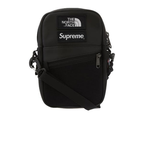 "SUPREME THE NORTH FACE LEATHER SHOULDER BAG ""BLACK"" FW18"