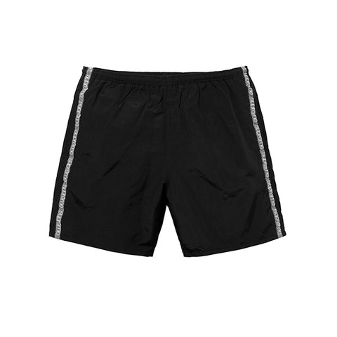 "SUPREME TONAL TAPING WATER SHORT ""BLACK"" SS18"