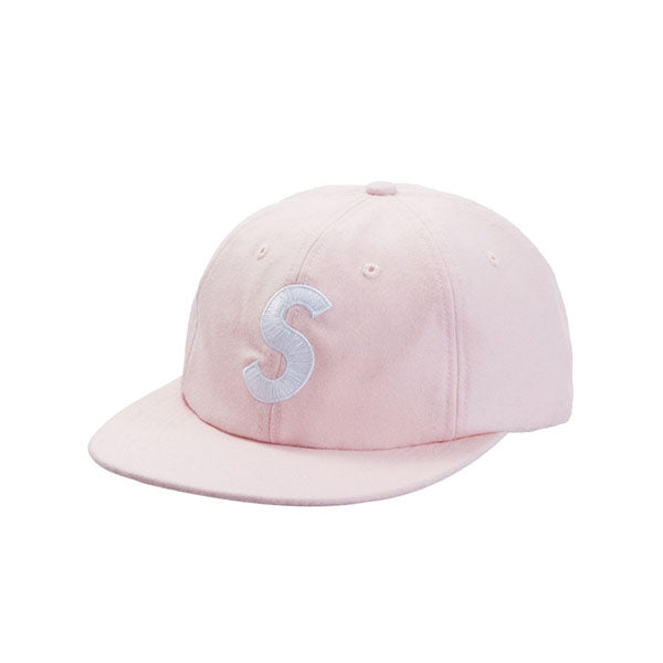 SUPREME WOOL S LOGO 6-PANEL PINK FW19