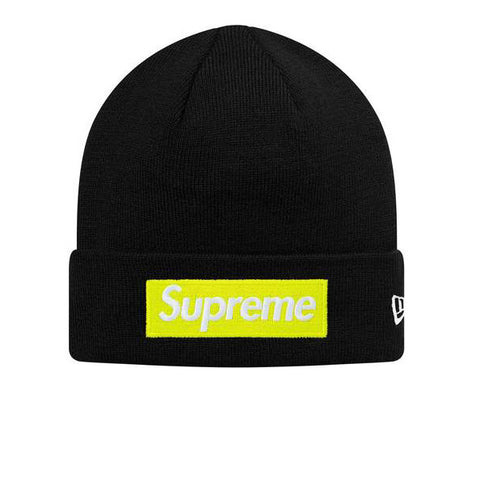 SUPREME NEW ERA BOX LOGO BEANIE BLACK FW17 SUPNERABXLGBNBLK