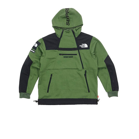 SUPREME x THE NORTH FACE STEEP TECH HOODED SWEATSHIRT OLIVE GREEN SS16