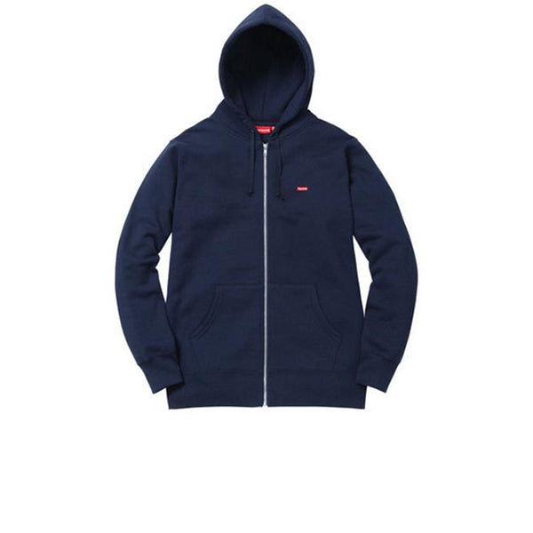 SUPREME ZIPUP SMALLBOX LOGO HOODY NAVY
