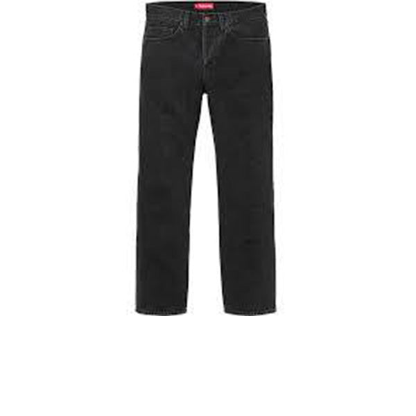 SUPREME STONE WASHED BLACK SLIM JEANS FW17