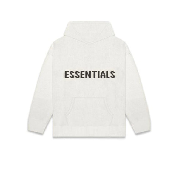 FEAR OF GOD ESSENTIALS KNIT HOODIE OATMEAL