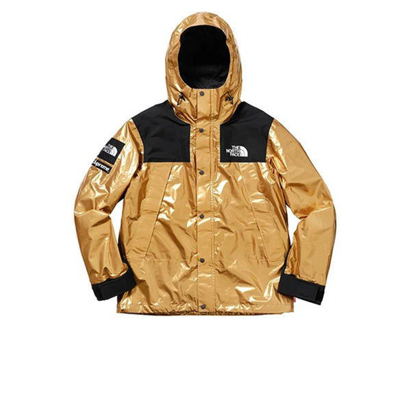 SUPREME X THE NORTH FACE METALLIC MOUNTAIN PARKA GOLD SS18