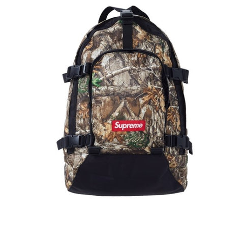 SUPREME BACKPACK REAL TREE CAMO FW19
