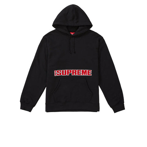 SUPREME BLOCKBUSTER HOODED SWEATSHIRT BLACK SS19
