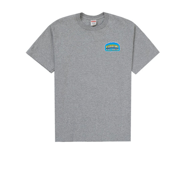 SUPREME CHROME TEE HEATHERY GREY FW20