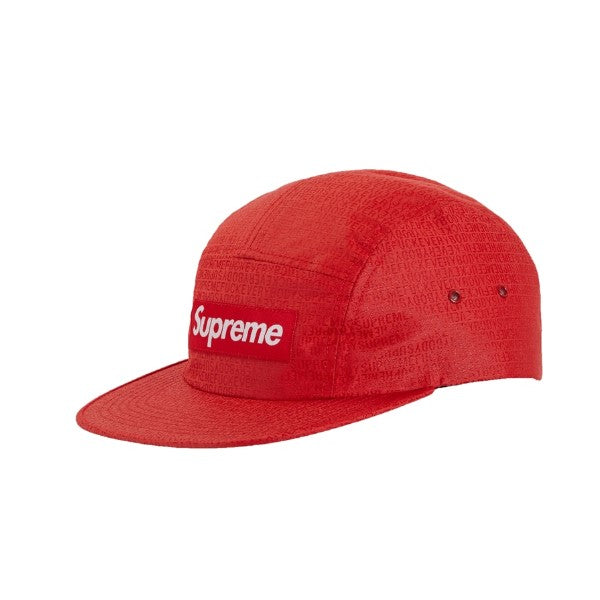 SUPREME FUCK EVERYBODY JACQUARD CAMP CAP RED SS19