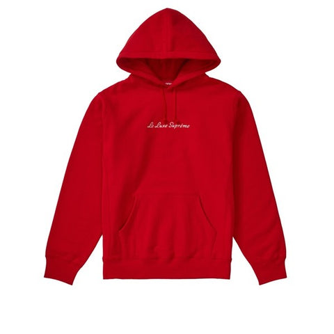 SUPREME LE LUXE HOODED SWEATSHIRT RED SS19