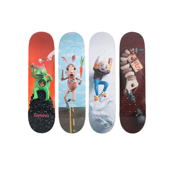 SUPREME MIKE HILL BRAINS & REGRETTER & RUNNER & SNAKE TRAP SKATEBOARD DECK SET