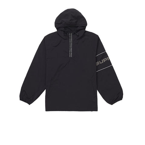 SUPREME RIPSTOP HOODED PULLOVER BLACK SS19