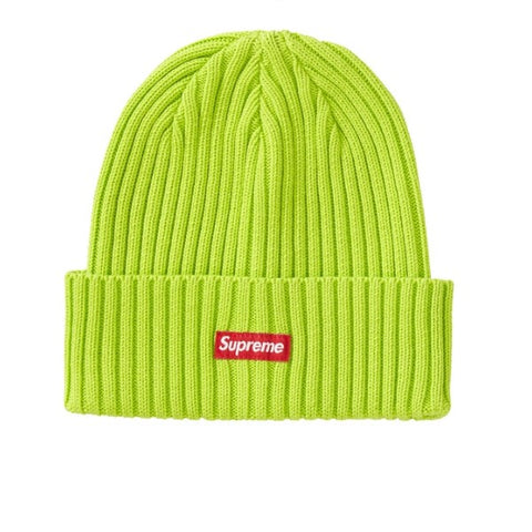 SUPREME OVERDYED BEANIE LIME SS19