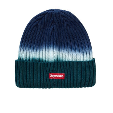 SUPREME OVERDYED BEANIE TIE DYE TEAL SS19