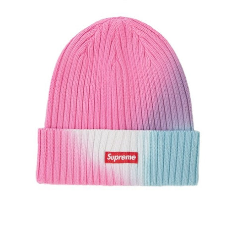 SUPREME OVERDYED BEANIE TIE DYE PINK SS19