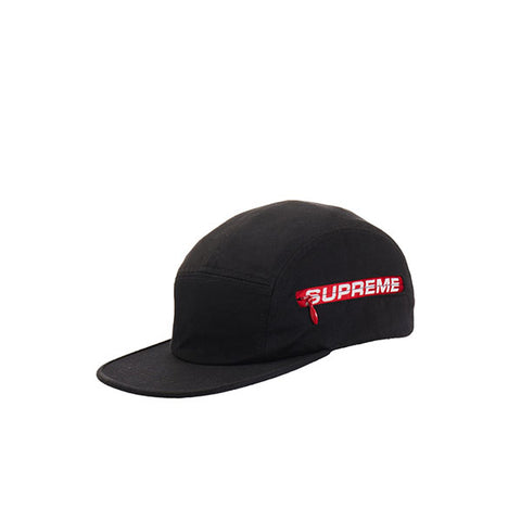 SUPREME SIDE ZIP CAMP CAP BLACK SS19