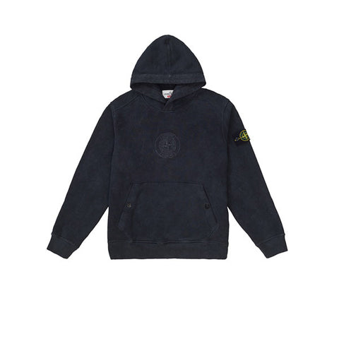 SUPREME STONE ISLAND HOODED SWEATSHIRT BLACK SS19