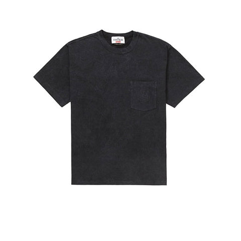 SUPREME STONE ISLAND POCKET TEE BLACK SS19