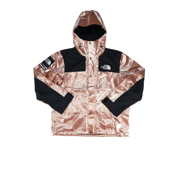 SUPREME X THE NORTH FACE METALLIC MOUNTAIN PARKA ROSE GOLD SS18