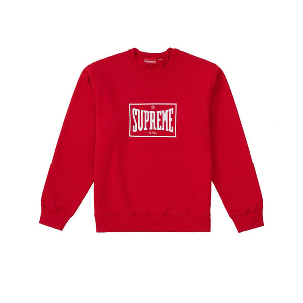 SUPREME WARM UP CREWNECK RED SS19